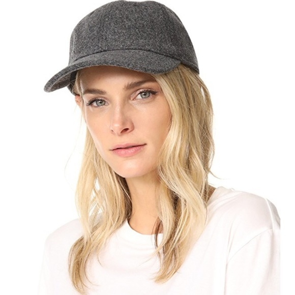 070249fe17f896 Madewell Accessories | Wool Blend Baseball Cap In Heather Gray ...